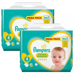 Giga Pack 156 Couches Pampers new baby - premium protection taille 4