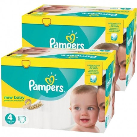 Giga Pack Jumeaux 585 couches Pampers New Baby Premium Protection sur 123 Couches