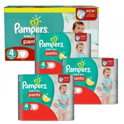 Maxi Pack 376 Couches Pampers Baby Dry Pants taille 4 sur 123 Couches