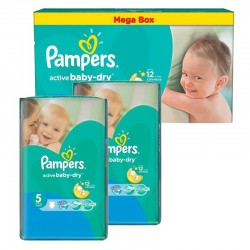 pack Jumeaux 440 Couches Pampers Active Baby Dry taille 5