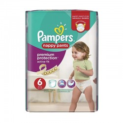 Pack 16 Couches Pampers Active Fit - Pants taille 6