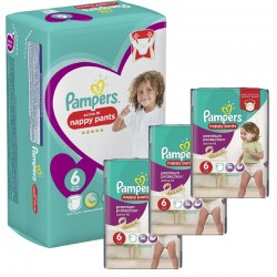 Maxi Pack 140 Couches Pampers Active Fit - Pants taille 6 sur 123 Couches