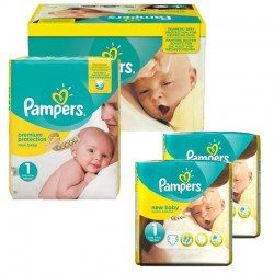 Maxi Pack 192 Couches Pampers new baby - premium protection taille 1