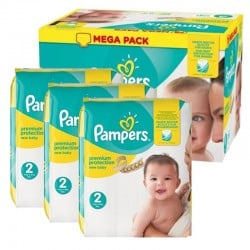 Pack 220 Couches New Baby Pampers Premium protection sur 123 Couches
