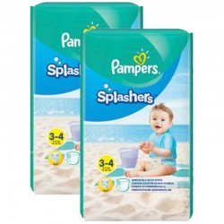 Maxi Pack 36 Couches de bains Pampers Splashers taille 3 sur 123 Couches