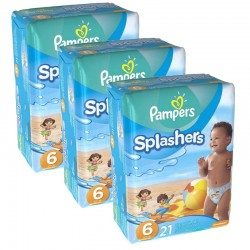 Giga pack 63 Couches de Bain Pampers Swimming Pants Splashers sur 123 Couches