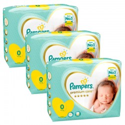 Maxi Pack 90 Couches Pampers New Baby Premium Care taille 0