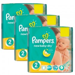 Mega Pack 129 Couches Pampers New Baby Dry taille 2