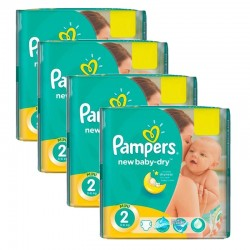 Maxi Pack 215 Couches Pampers New Baby Dry taille 2