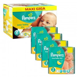 Maxi Pack 301 Couches Pampers New Baby Dry taille 2