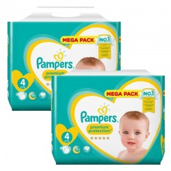Giga Pack 164 Couches Pampers New Baby Premium Protection taille 4