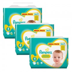 Maxi Pack 246 Couches Pampers New Baby Premium Protection taille 4