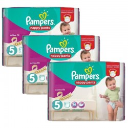 Maxi Pack 120 Couches Pampers Active Fit Pants taille 5
