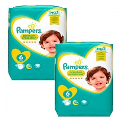 Giga Pack 111 Couches Pampers New Baby Premium Protection taille 6 sur 123 Couches