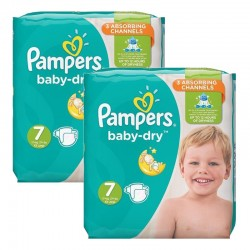 Maxi Pack 60 Couches Pampers Baby Dry taille 7 sur 123 Couches