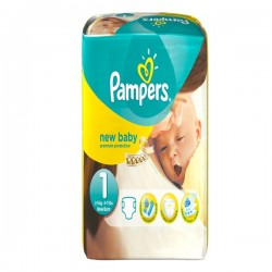 Pack 56 Couches Pampers de la gamme New Baby de taille 1