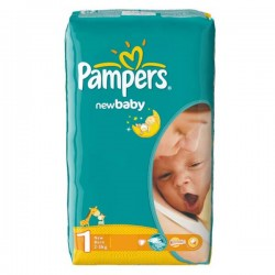 Pack 43 Couches Pampers New Baby Dry taille 1 sur 123 Couches