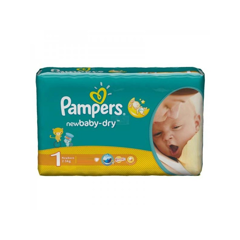 Couches Pampers New Baby Dry Taille 1 En Promotion 43 Couches Sur