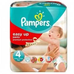 Pack d'une quantité de 22 Couches Pampers de la gamme Easy Up taille 4 sur 123 Couches