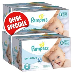 Maxi giga pack 300 Couches New Baby Sensitive sur 123 Couches