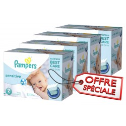 Pack jumeaux 600 Couches New Baby Sensitive sur 123 Couches