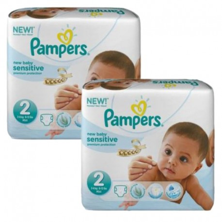 Pack jumeaux 660 Couches New Baby Sensitive sur 123 Couches