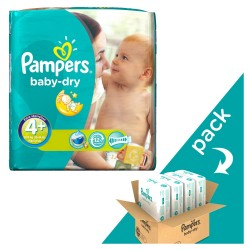 Giga pack 246 Couches Baby Dry taille 4+ sur 123 Couches