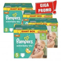 Giga pack 290 Couches Pampers Active Baby Dry
