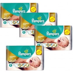 Pack 76 Couches Pampers New Baby Premium Care taille 2 sur 123 Couches
