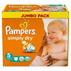 Pack 352 Couches de la marque Pampers Simply Dry de taille 5