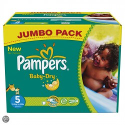 Pack 92 Couches de Pampers Baby Dry taille 6 sur 123 Couches