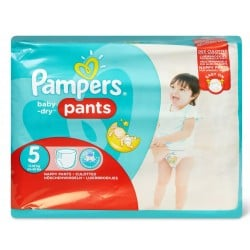 Pack 22 Couches Pampers Baby Dry Pants taille 5 sur 123 Couches