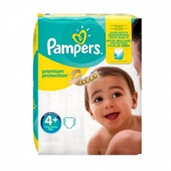 Pack 50 Couches Pampers New Baby Premium Protection taille 4+ sur 123 Couches