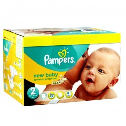 Giga pack 279 Couches Pampers New Baby Premium Protection taille 2 sur 123 Couches