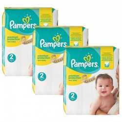 Maxi giga pack 341 Couches Pampers New Baby Premium Protection taille 2 sur 123 Couches