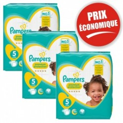 Giga pack 270 Couches Pampers New Baby Premium Protection taille 5 sur 123 Couches