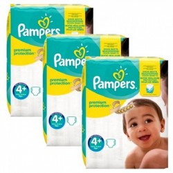 Mega pack 100 Couches Pampers New Baby Premium Protection taille 4+ sur 123 Couches