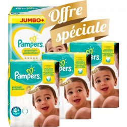 Giga pack 250 Couches Pampers New Baby Premium Protection taille 4+ sur 123 Couches