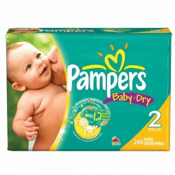 Giga pack 230 Couches Pampers Baby Dry taille 2 sur 123 Couches