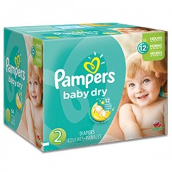 Maxi giga pack 322 Couches Pampers Baby Dry taille 2