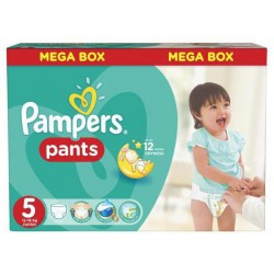 Pack 44 Couches Pampers Baby Dry Pants taille 5 sur 123 Couches