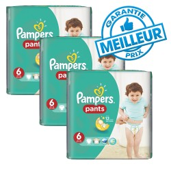 Pack 98 Couches Pampers Baby Dry Pants taille 6 sur 123 Couches