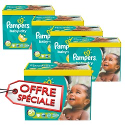 Mega pack 112 Couches Pampers Baby Dry taille 5+