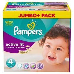 Pack d'une quantité de 240 Couches de Pampers Active Fit taille 4+ sur 123 Couches
